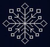 Knit snowflake design Stock Photo