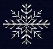 Knit snowflake design Stock Image