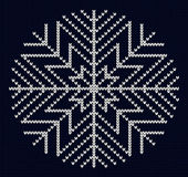 Knit snowflake design Stock Photography