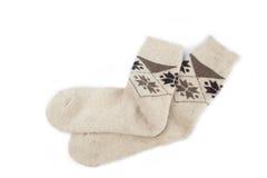 Knit-Socken Lizenzfreies Stockfoto