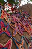Knit stars pattern mosaic Stock Image