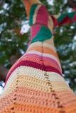 Knit streift Mustermosaik Lizenzfreies Stockfoto