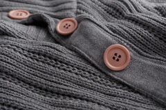 Knit sweater closeup button Royalty Free Stock Photo