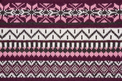 Knit sweater  texture with ornament Royalty Free Stock Photo