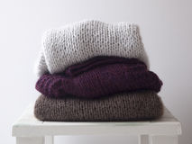 Knit sweaters Royalty Free Stock Photos
