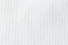 Knit texture background of white wool knitted fabric Stock Photography
