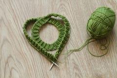 Knit vert Photo libre de droits