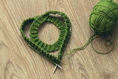 Knit vert Photos libres de droits