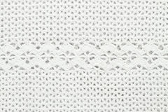 Knit white texture, crochet Stock Photography