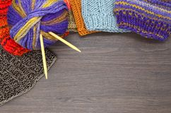 Knit and wool Stock Photography