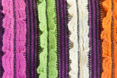 Knit woolen texture. Fabric multicolor background royalty free stock photography