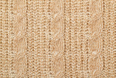 Knit woolen texture Stock Photography