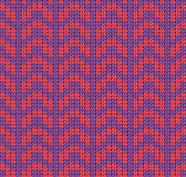 Knit yarn purple red mountain seamless pattern Royalty Free Stock Images