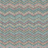 Knit zigzag pattern, traditional nordic texture Royalty Free Stock Photo
