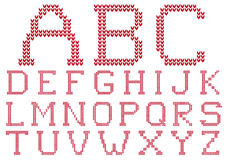 Knited alphabet, vector set Royalty Free Stock Photos