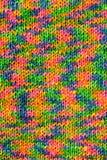 knited rainbow texture стоковое изображение