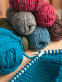 Kniting Royalty-vrije Stock Foto