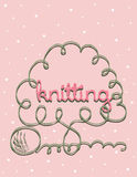 Kniting background Royalty Free Stock Images