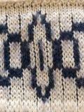 Knitmusterwollfunktionshintergrund Stockfoto