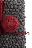 Knits and a ball of wool stock image