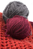 Knits and balls of wool Royalty Free Stock Image