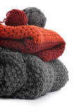 Knits and balls of wool Stock Photo