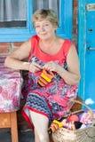 Knits de grand-mère Photos stock
