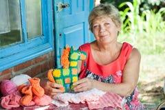Knits de grand-mère Image libre de droits