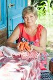 Knits de grand-mère Images stock