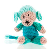 Knitted填充动物玩偶 免版税库存图片