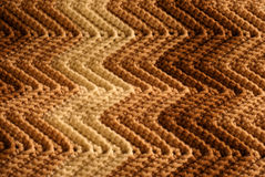 Knitted Afghan Detail Stock Photo