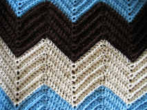 Knitted Afghan Pattern. A great pattern of a knitted afghan - just like your grandmother makes Royalty Free Stock Photo
