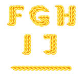 Knitted alphabet F_J Stock Photo