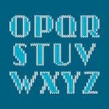 Knitted alphabet Stock Photos