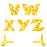 Knitted alphabet V_Z Stock Photo