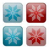 Knitted apps icons Royalty Free Stock Photos