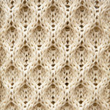 Knitted Aran wool background Stock Photography
