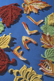 Knitted autumn leaves Stock Photo