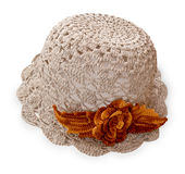 Knitted baby hat Royalty Free Stock Photography