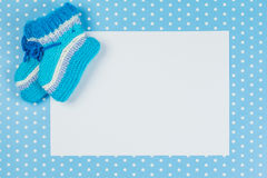 Knitted baby socks Royalty Free Stock Photo