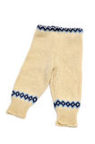 Knitted baby trousers Royalty Free Stock Image