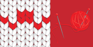 Knitted background. Banner for design Royalty Free Stock Image