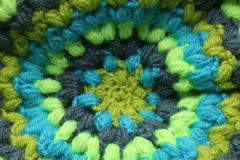 Knitted background. Knitted blue and green background Stock Image