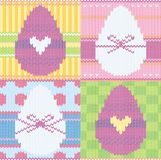 Knitted background with Easter eggs. Background with Easter eggs,knitted background vector illustration