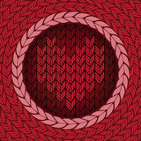 Knitted background with heart Royalty Free Stock Images
