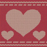 Knitted background with hearts Royalty Free Stock Image