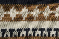 Knitted background with a horizontal pattern Stock Photography
