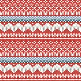 Knitted background. With ornament. Vector illustration Stock Image