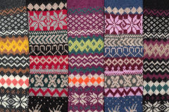 Knitted background with a pattern Stock Images
