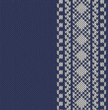 Knitted  background with pattern Royalty Free Stock Image